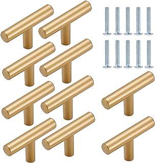 TheStriven 10 piezas Perilla de Cajón en Forma de T Cajón Perillas Tiradores en T para Armarios de Cocina Tirador en forma...