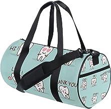 FANTAZIO Gym Duffel Bag Leuke Cartoon Tand Emoji Patroon Mens Gym Duffel Bag