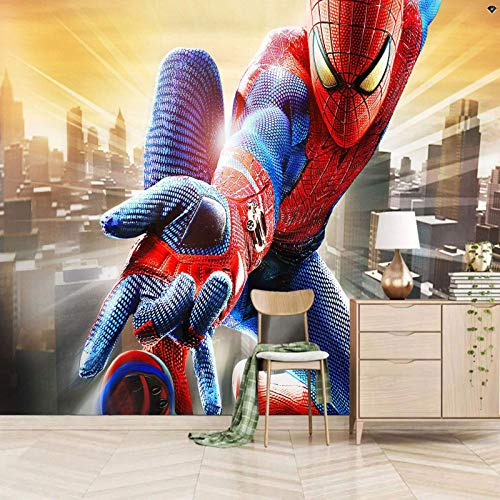mural decoration 350x245cm Movie hero spider boy 3d Wall Mural Photo Decoration 3D Mural Design Wall Mural Decoration Wallpaper Photo poster Peel and Stick Children Room bedroom Decor