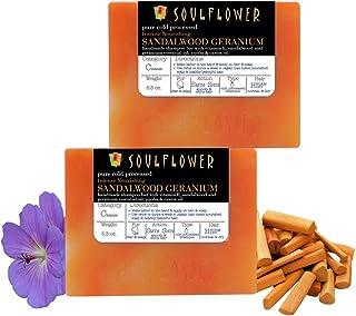 Sandalwood Geranium Intense Nourishing Handmade Shampoo Bar by Soulflower, SLS Free, Pure and Natural, Indian Formulation,...