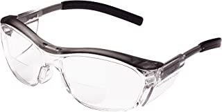3M Nuvo Reader Protective Eyewear 11436-00000-20 Clear Lens, Gray Frame, +2.5 Diopter