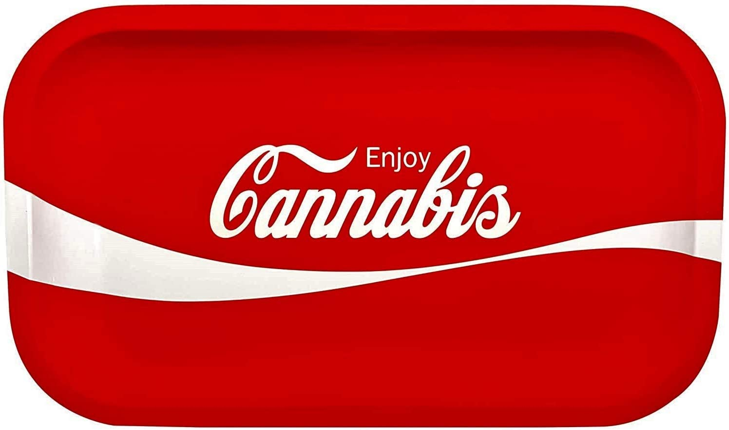 """Lifted Rolling Tray Coca-Cola"""" inches Dedication San Francisco Mall 10.6 x 6.3"""
