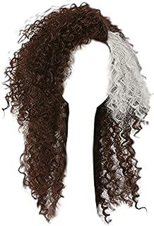 Bellatrix Lestrange Wig Cosplay HP Costume Curly Brown Hair Accessories Props Halloween
