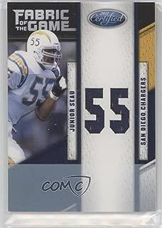 Junior Seau #18/25 (Football Card) 2011 Certified - Fabric of the Game - Die-Cut Jersey Number [Memorabilia] #85