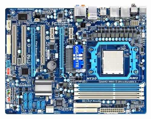 Gigabyte GA-870A-UD3 2.1 Mainboard Sockel AMD AM3 870 4X DDR3 Speicher ATX