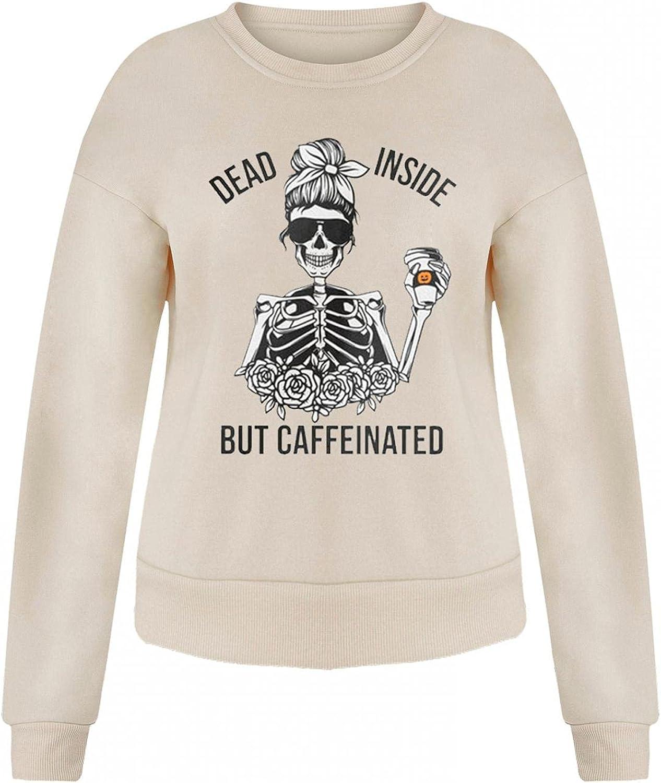 Halloween Women Tops Cute Pumpkin Ghost Black Cat Bat Print Casual Loose Long Sleeve Crewneck Pullover Sweatshirts