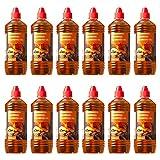 Farmlight BBQ 12 X 1 Bio accendifuoco in Gel x Barbecue, camini e bracieri 12 Bottiglie da 1 litro, Orange, 12 LITRI