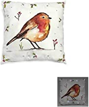 FILLED RED CREAM SNOW CHRISTMAS LIGHT UP LED ROBIN IVY HOLLY SOFT THROW PILLOW SCATTER CUSHION SHAM 16
