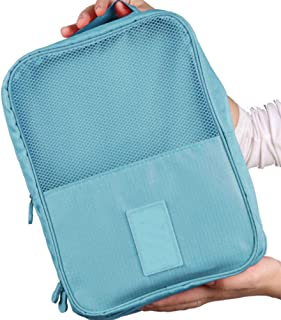 Tjackson Portable Travel Shoes Storage Bag Nylon Organizer Bags Shoe Sorting Multifunction Pouch