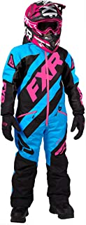 FXR Youth CX Monosuit 2020 (Sky Blue/Black/Electric Pink - Size 16)