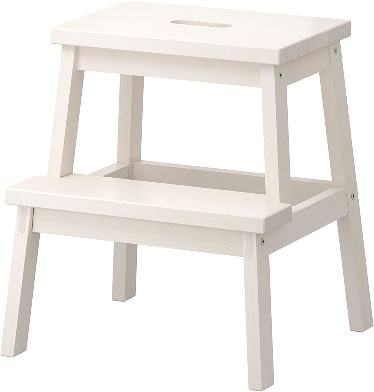 IKEA BEKVAM Home Indoor Solidwood Step Stool (White) 401.788.88