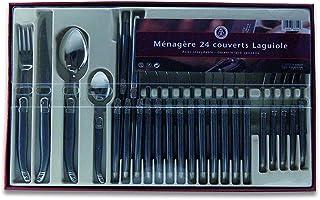 Laguiole Production - Ménagère 24 pièces - Set de couverts de table acier inox et ABS pour 6 personnes - Présentation coff...