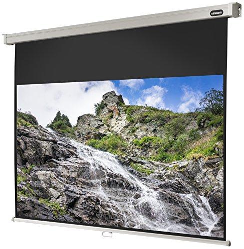 celexon manuell ausziehbare Heimkino- und Business-Beamer-Leinwand 4K und Full-HD Rollo-Leinwand Professional - 240x135 cm - 16:9 - Gain 1,2