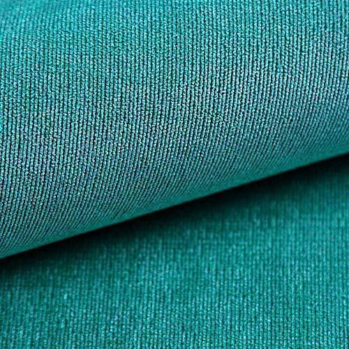 NOVELY® ISSUM samtig Flauschiger Möbelstoff in 21 Farben Polsterstoff (26 Türkis)