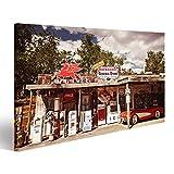 islandburner Bild Bilder auf Leinwand US Tankstelle Poster,