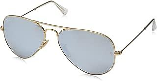 Aviator Classic RB3025 Sunglasses 112/69 Matte Gold Frame Crystal Brown Mirror Orange Lenses Size 55-14-135