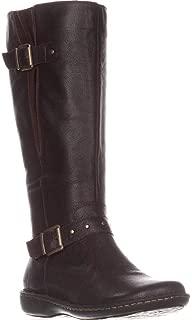 Womens Austin Wide Calf Leather Knee-High Boots Brown 6.5 Medium (B,M)