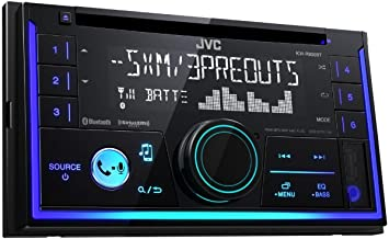JVC KW-R930BT Receptor Multimedia para Coche Negro 50 W Bluetooth - Radio para Coche (Negro, 2 DIN, 50 W, MOSFET, AAC,FLAC,MP3,WAV,WMA, LCD)