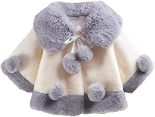 ❤Unisex Baby Girls Velvet Cloak Jacket Fall Winter Warm Waistcoat Tops Thick Coat 6M-2T