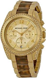 Micheal Kors Women's Quartz Watch With Chronograph Quartz Stainless Steel Mk6094, Multicolour Band