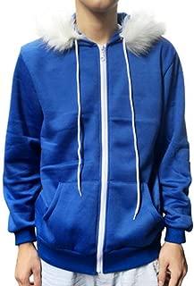 AliveGOT Blue Under Cosplay Blue Fleece Hooded Jacket Sweater Costume Warm Sport Parka Coat