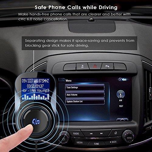 elegantstunning Adaptateur Radio FM sans Fil Bluetooth pour Voiture Chargeur USB