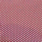 Muster Baumwollstoff Popelin mit kleinen Sternen - Mauve