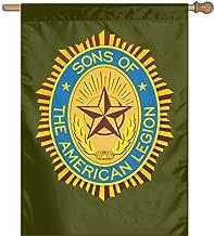Sons of The American Legion 100% Polyester House Flag Decorative Garden Flag Yard Banner Garden Flags 27x37