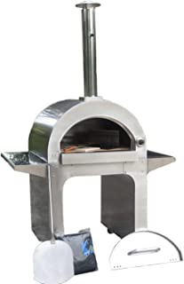 KASA Portable Wood Fired Pizza Oven BBQ L250 Outdoor Pizza Oven Stainless Steel