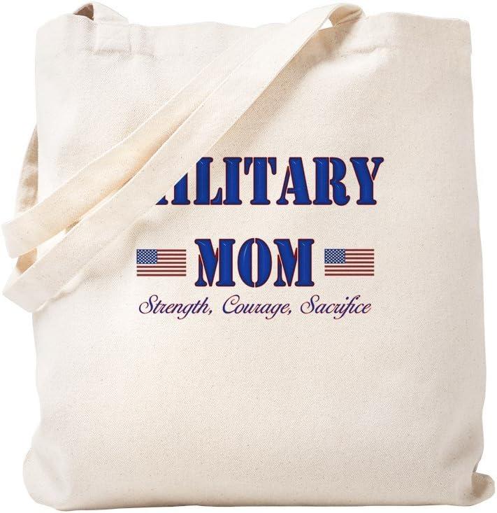 CafePress Military MOM Tote Bag Natural Canvas Tote Bag, Reusable Shopping Bag