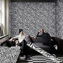 10 metros papel tapiz autoadhesivo impermeable patrón de cebra pegatinas de papel de pared decoración del hogar