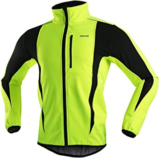 ARSUXEO Winter Warm UP Thermal Softshell Cycling Jacket Windproof  Waterproof 15-k 6b62a7c20