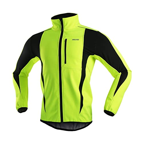 ARSUXEO Winter Warm UP Thermal Softshell Cycling Jacket Windproof  Waterproof 15-k be71f6ebd