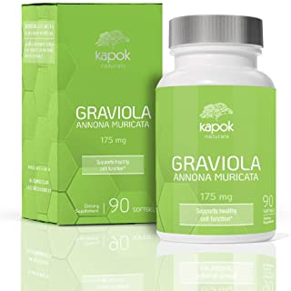 Sponsored Ad - Kapok Naturals Graviola Capsules (90 Softgel) - Superfood Supplement Extract Pills acts as a Natural Immune...