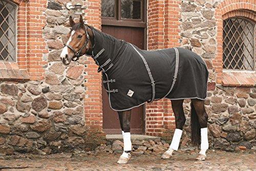 CATAGO Fleecedecke mit Halsteil – 155 cm – schwarz - 2
