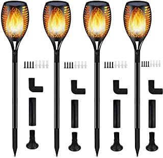 Solar Lights,Waterproof Flames Torches Lights Outdoor Solar Light Landscape Decoration..