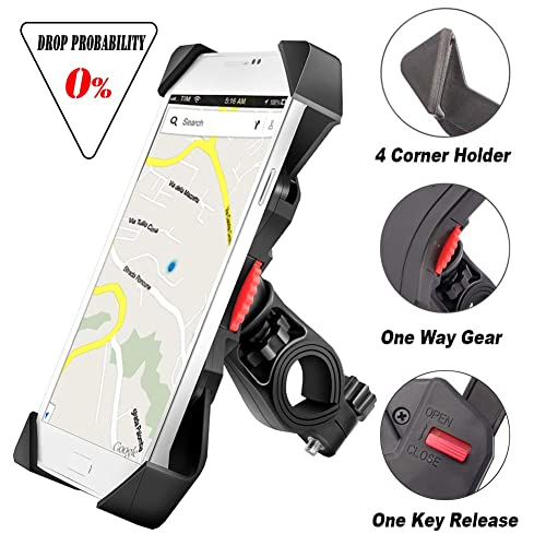 889685bc visnfa Bike Phone Mount Anti Shake and Stable Cradle Clamp with 360°  Rotation Bicycle Phone