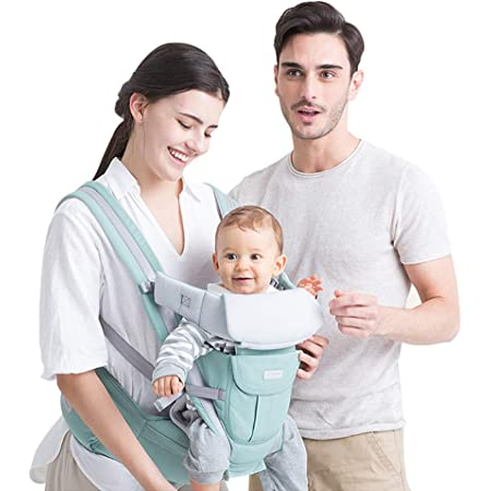 FEEMOM 6-in-1 Kangaroo Baby Carrier Backpack Front and Back for Dad and Mom Baby Carrier Wrap Newborn to Toddler 0-36 Months