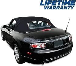 Compatible With Mazda Miata Convertible Top 2006-2015 & Heated Glass Window Black Cabrio