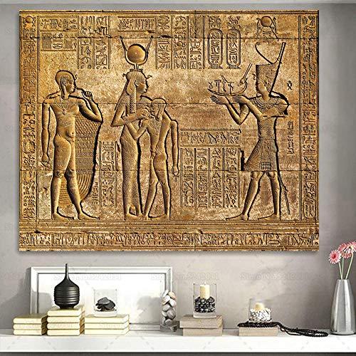 brandless Antico Egitto Pittura su Tela Pittura su Pietra egiziana Stampa Tempio Wall Art Livingroom...