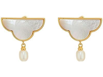 Kate Spade New York Into The Sky Cloud Drop Earrings (Cream) Earring