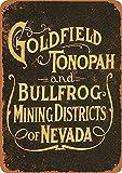 Toddrick Goldfield Tonopah - Letrero de hojalata de Estilo Vintage, Estilo Retro para Cocina, Bar, Pub, cafetería, decoración de 8 x 12 Pulgadas
