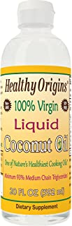 Healthy Origins Liquid Coconut Oil (93% MCT), 20 Ounce