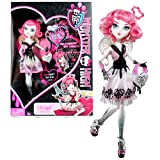 Mattel Year 2011 Monster High 'Sweet 1600' Series 10 Inch Doll - C.A. Cupid 'Daughter of Eros' with Love-Shaped Purse and Doll Stand (X3799)