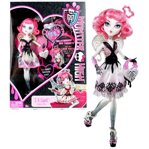 "Mattel Year 2011 Monster High ""Sweet 1600"" Series 10 Inch Doll - C.A. Cupid ""Daughter of Eros"" with Love-Shaped Purse and Doll Stand (X3799)"