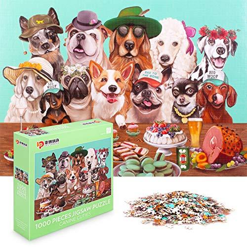 1000 Piezas de Rompecabezas para Adultos y Adolescentes, Serie de Rompecabezas de Animales (Cachorro Lindo)
