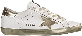 Golden Goose Men Superstar Sneakers Sparkle White/Gold Star 8 US