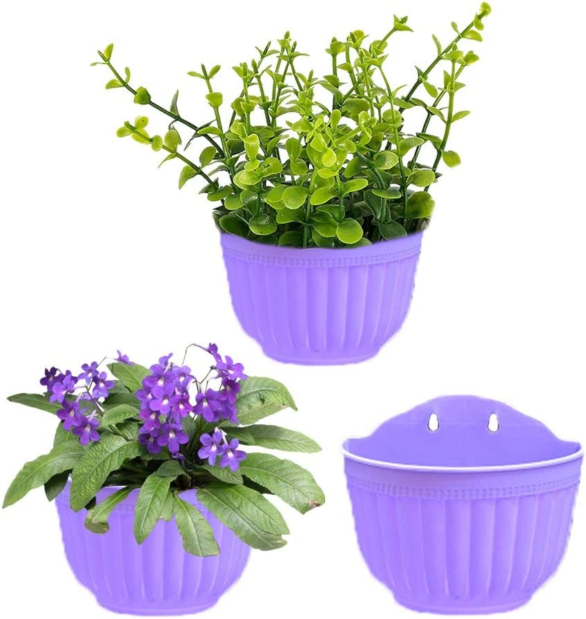 3Pack Manufacturer OFFicial shop Wall Hanging Flowers Planter Plant Pot Resin Type Complete Free Shipping A Contai