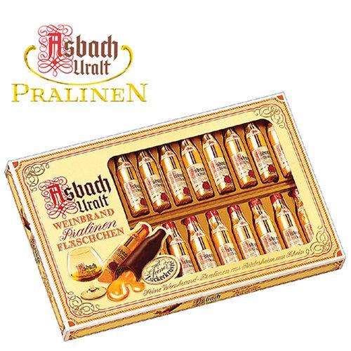 Asbach Uralt Brandy Filled Chocolates in 24 Bottle Window Gift Box - 300g/10.6oz
