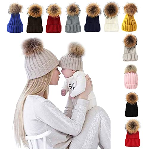 6f585fe0adc xsby Knitted Cozy Warm Winter Snowboarding Ski Hat with Pom Pom Slouchy Hat